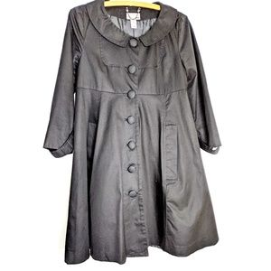 H&M Babydoll Style Black Trench Coat